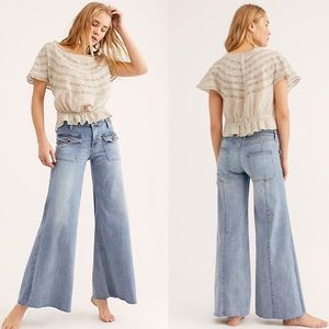 Free People  Hailey Low Rise Bell Bottom Jeans